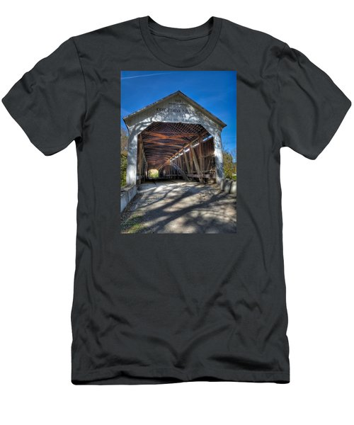 Cox Ford Covered Bridge Men's T-Shirt (Slim Fit) by Alan Toepfer