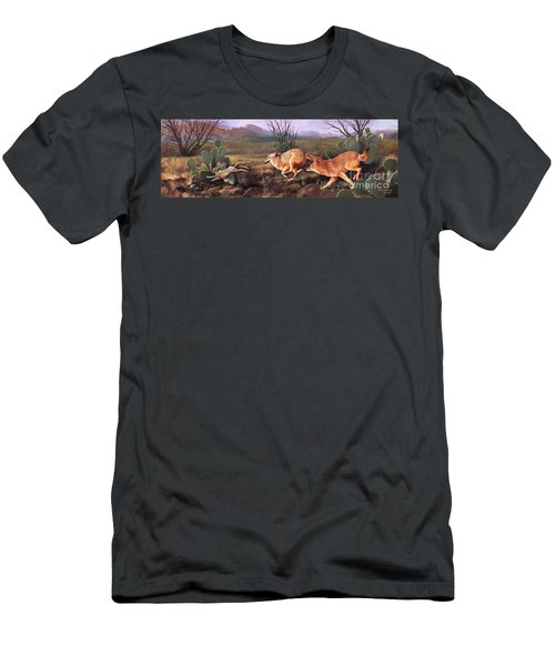 Men's T-Shirt (Slim Fit) featuring the painting Coyote Run by Rob Corsetti