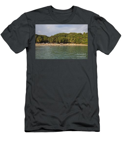 Men's T-Shirt (Athletic Fit) featuring the photograph Crash Boat Beach In Puerto Rico by Bryan Mullennix