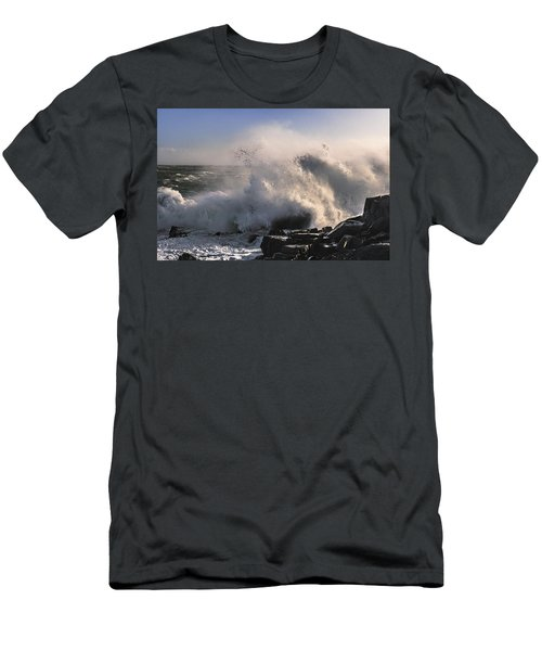 Crashing Surf Men's T-Shirt (Slim Fit) by Marty Saccone