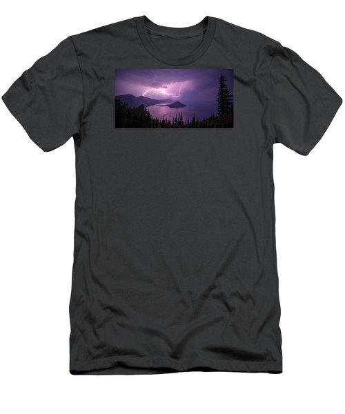Crater Storm Men's T-Shirt (Slim Fit) by Chad Dutson