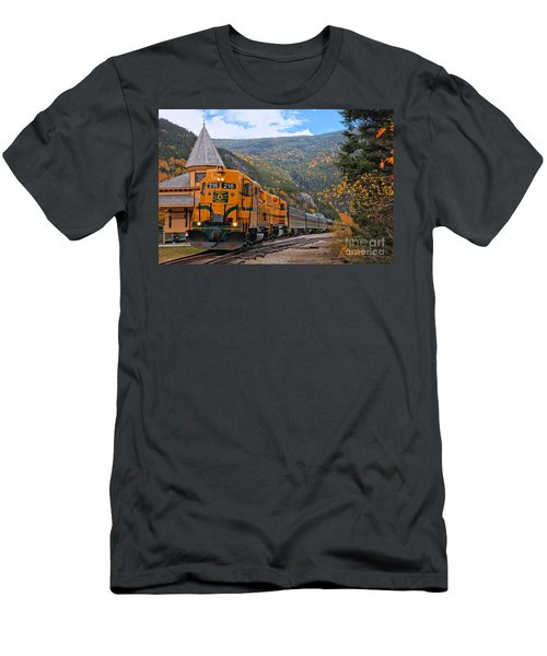 Crawford Notch Train Depot Men's T-Shirt (Athletic Fit)