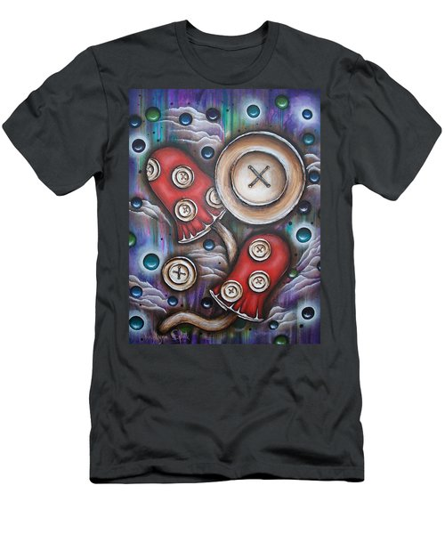 Crazy Button Mushrooms Men's T-Shirt (Athletic Fit)