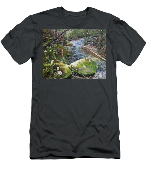 Creek -  Beyond The Rock - Mountaintown Creek  Men's T-Shirt (Athletic Fit)