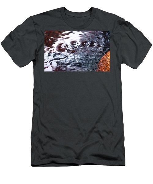 Creek Twirls Abstract Macro Men's T-Shirt (Athletic Fit)