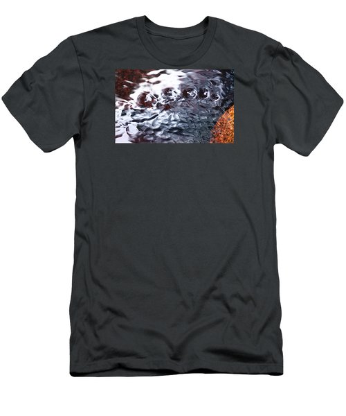 Creek Twirls Abstract Macro Men's T-Shirt (Athletic Fit)