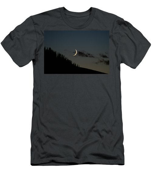 Men's T-Shirt (Slim Fit) featuring the photograph Crescent Silhouette by Jeremy Rhoades