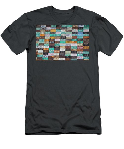 Crested Butte License Plate House Men's T-Shirt (Slim Fit) by Fiona Kennard