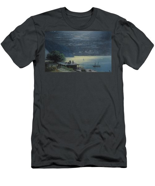 Crimean Coast By Moonlight Men's T-Shirt (Athletic Fit)