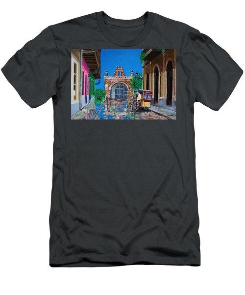 Capilla De Cristo - Old San Juan Men's T-Shirt (Slim Fit) by The Art of Alice Terrill