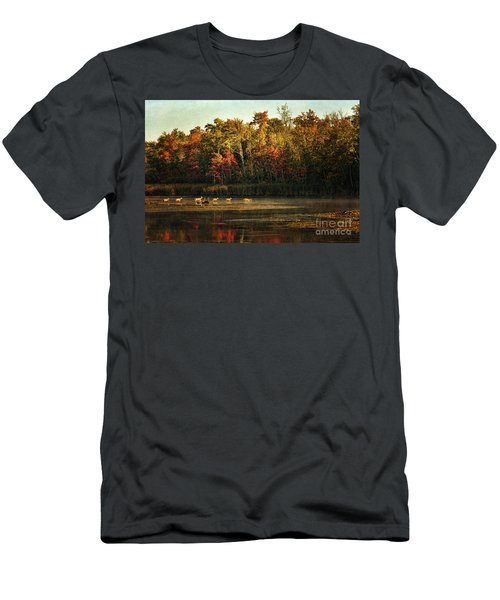 Crossing The Lake Men's T-Shirt (Athletic Fit)