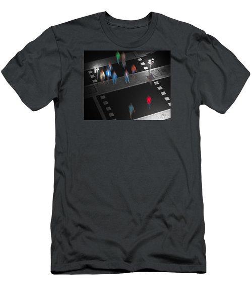Crosswalk Men's T-Shirt (Slim Fit) by Pedro L Gili