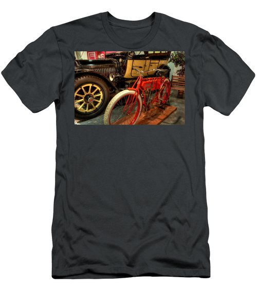 Crouch Motorcycle Men's T-Shirt (Athletic Fit)