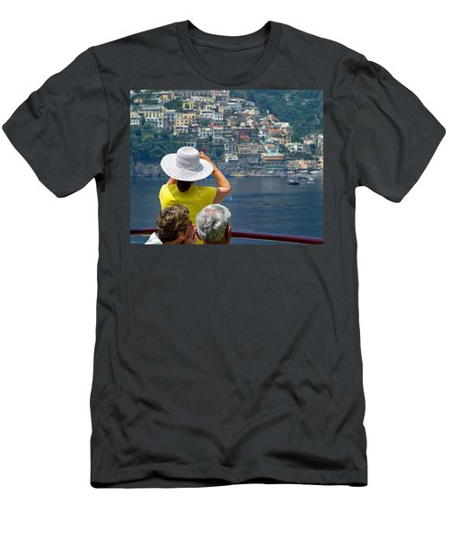 Cruising The Amalfi Coast Men's T-Shirt (Slim Fit) by Keith Armstrong