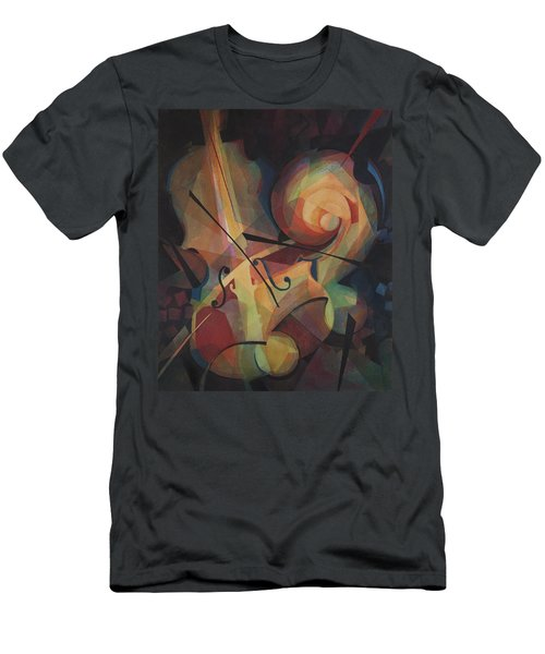 Cubist Play - Abstract Cello Men's T-Shirt (Athletic Fit)