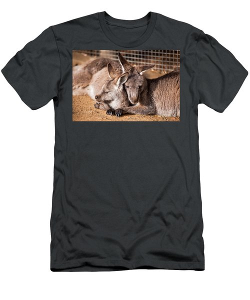 Cuddling Kangaroos Men's T-Shirt (Athletic Fit)