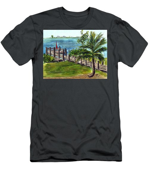 Cudjoe Dock Men's T-Shirt (Athletic Fit)