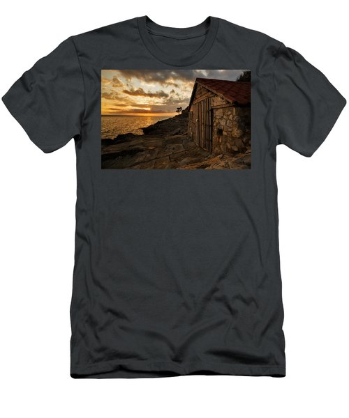 Cunski Beach At Sunrise Men's T-Shirt (Athletic Fit)