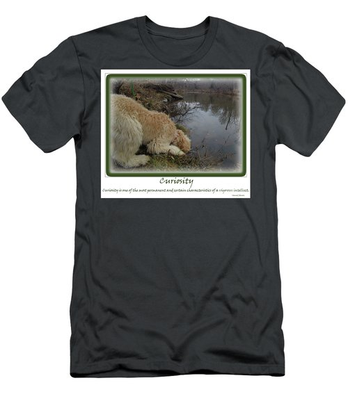 Curiosity Of A Puppy Men's T-Shirt (Athletic Fit)