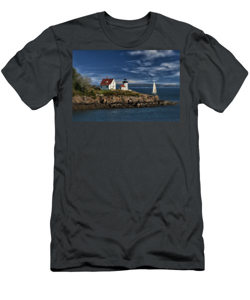 Curtis Island Lighthouse Maine Img 5988 Men's T-Shirt (Athletic Fit)