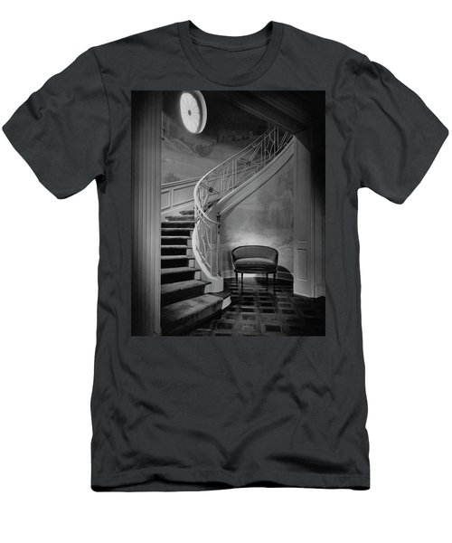 Curving Staircase In The Home Of  W. E. Sheppard Men's T-Shirt (Athletic Fit)