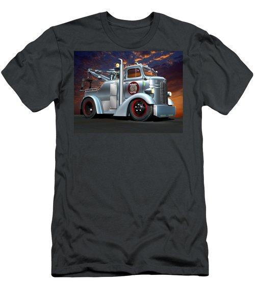 Custom Coe Tow Truck Men's T-Shirt (Slim Fit) by Stuart Swartz