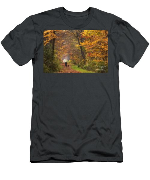 Cyclist And Dog Men's T-Shirt (Athletic Fit)