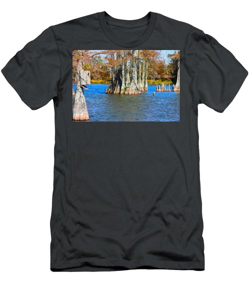 Cypress Birdhouse  Men's T-Shirt (Athletic Fit)