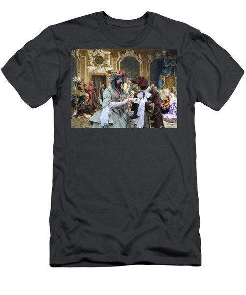 Dachshund Art - Royal Party Men's T-Shirt (Athletic Fit)