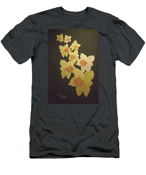 Daffodils Men's T-Shirt (Slim Fit) by Terry Frederick