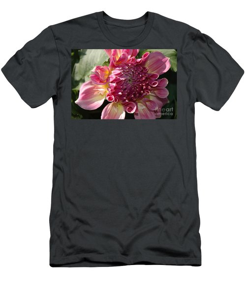 Men's T-Shirt (Slim Fit) featuring the photograph Dahlia V by Christiane Hellner-OBrien