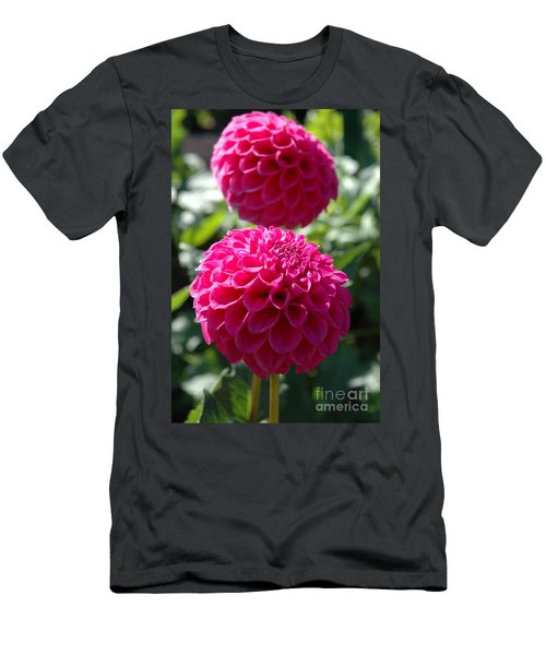 Men's T-Shirt (Slim Fit) featuring the photograph Dahlia Xi by Christiane Hellner-OBrien
