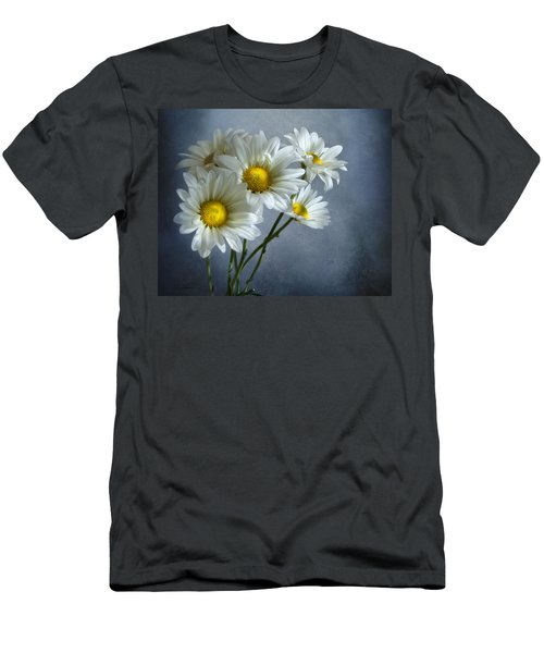 Men's T-Shirt (Slim Fit) featuring the photograph Daisy Bouquet by Ann Lauwers