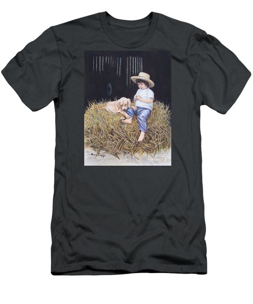 Men's T-Shirt (Athletic Fit) featuring the painting Daisy by Nancy Cupp