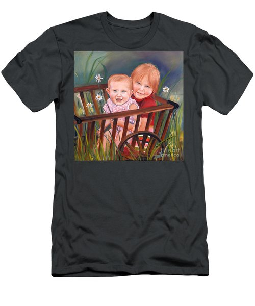 Daisy - Portrait - Girls In Wagon Men's T-Shirt (Athletic Fit)