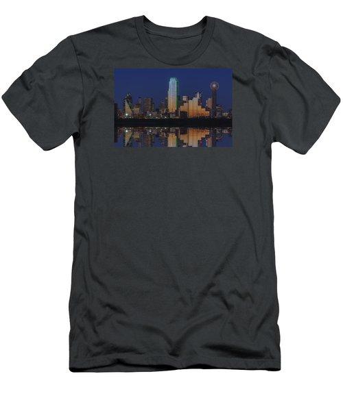 Dallas Aglow Men's T-Shirt (Slim Fit) by Rick Berk