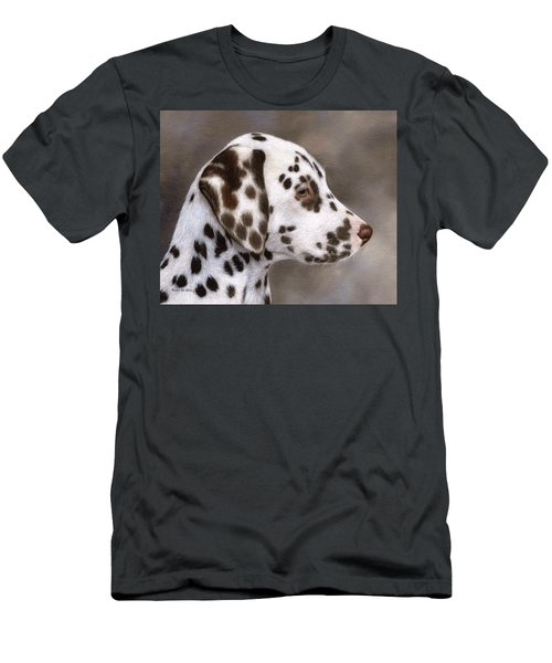 Dalmatian Puppy Painting Men's T-Shirt (Athletic Fit)