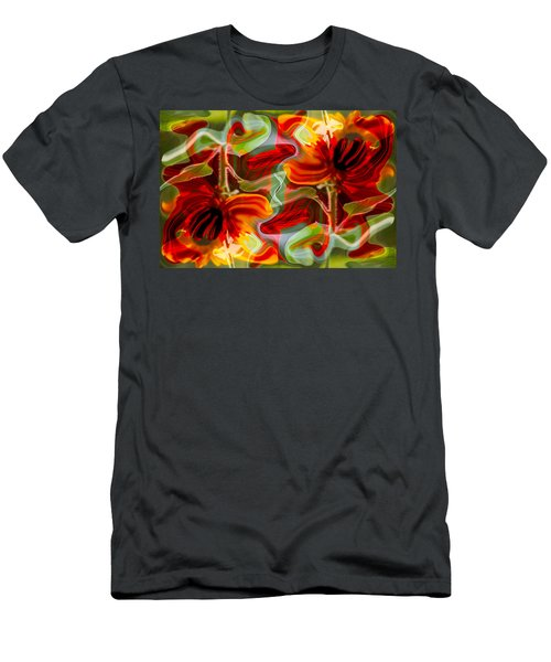 Dancing Flowers Men's T-Shirt (Athletic Fit)