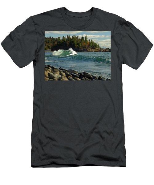 Dancing Waves Men's T-Shirt (Athletic Fit)