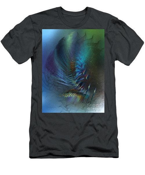Dancing With The Wind-abstract Art Men's T-Shirt (Athletic Fit)