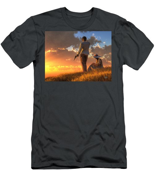 Danger At Sundown Men's T-Shirt (Athletic Fit)