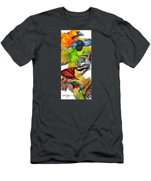 Da131 Multi-birds By Daniel Adams Men's T-Shirt (Athletic Fit)