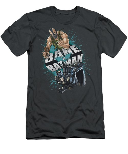 Dark Knight Rises - Bane Vs Batman Men's T-Shirt (Athletic Fit)