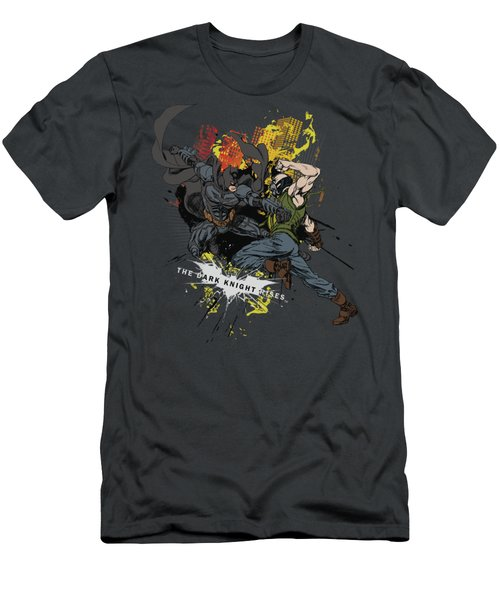Dark Knight Rises - Fight For Gotham Men's T-Shirt (Athletic Fit)