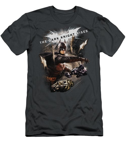 Dark Knight Rises - Imagine The Fire Men's T-Shirt (Athletic Fit)