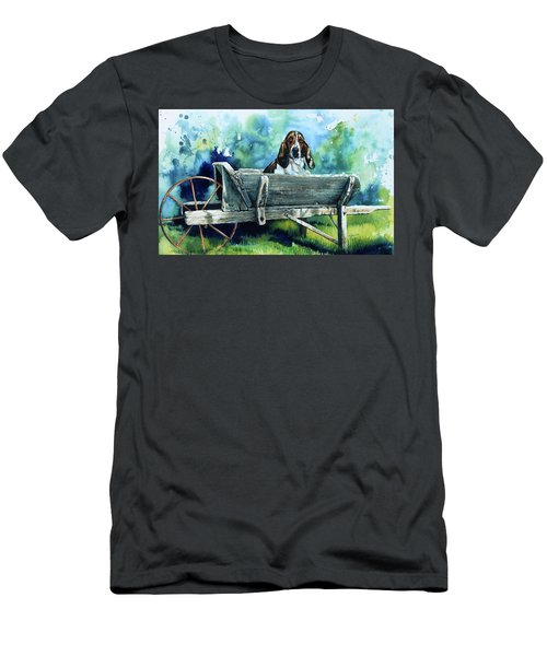 Men's T-Shirt (Athletic Fit) featuring the painting Darn Dog Days by Hanne Lore Koehler