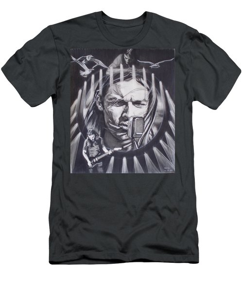 David Gilmour Of Pink Floyd - Echoes Men's T-Shirt (Athletic Fit)
