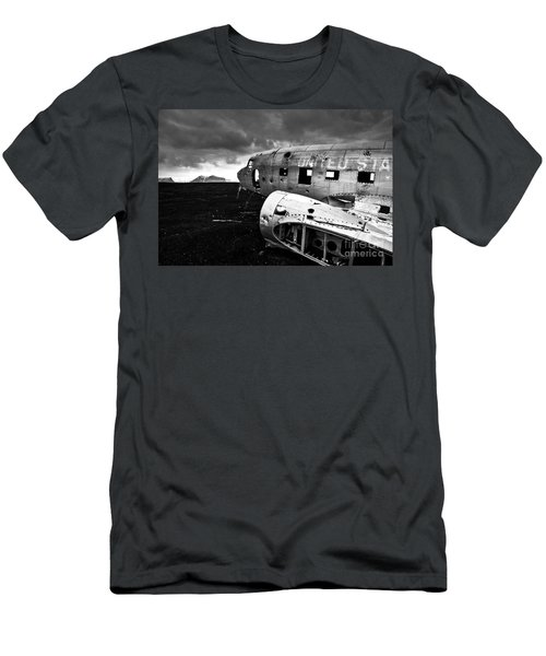 Men's T-Shirt (Slim Fit) featuring the photograph Dc-3 Iceland by Gunnar Orn Arnason