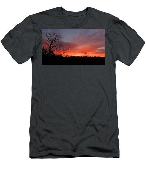 Dead Tree Sunrise Men's T-Shirt (Athletic Fit)