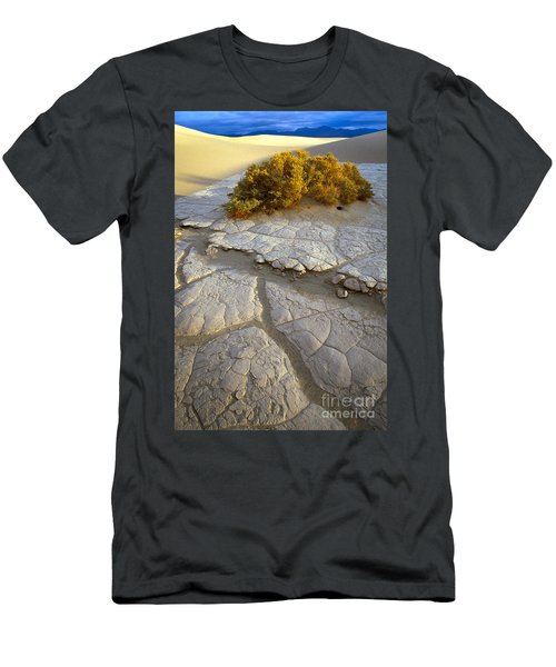 Death Valley Mudflat Men's T-Shirt (Slim Fit) by Inge Johnsson